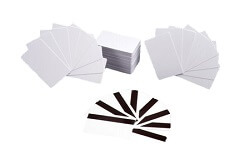 Plain plastic cards